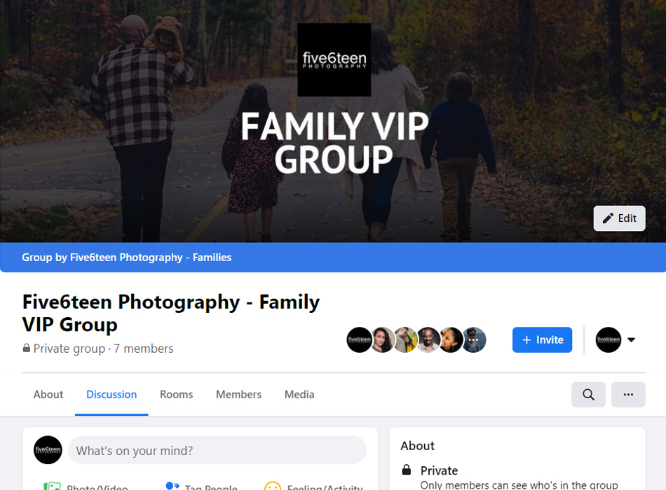 Five6teen Photography Family VIP Group